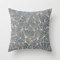 Ab Fan Grey And Nude Throw Pillow