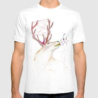 October Deer Mens Fitted Tee White SMALL