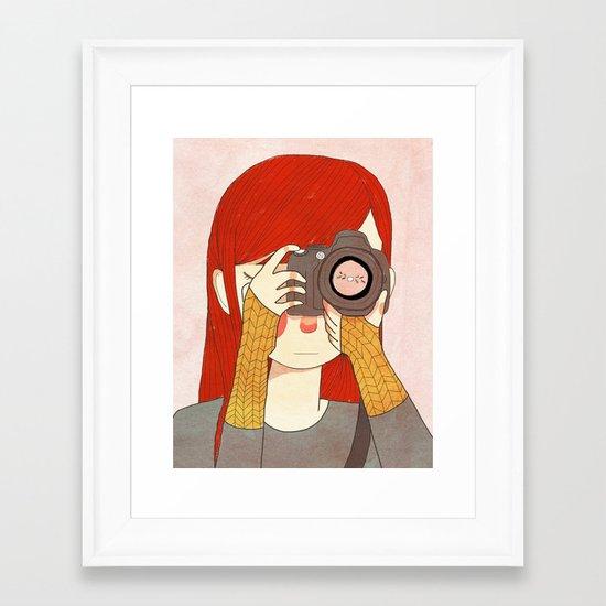 Behind The Lens Framed Art Print