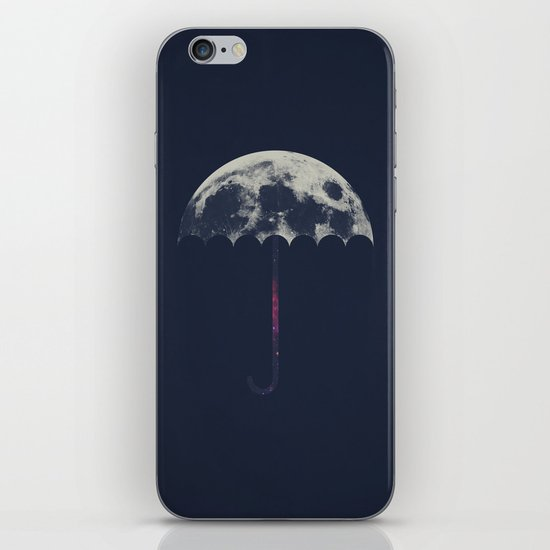 Space Umbrella iPhone & iPod Skin