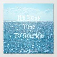Sparkle Time Canvas Print