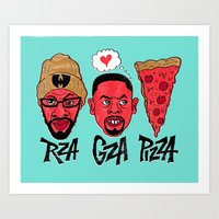 RZA, GZA, PIZZA Art Print