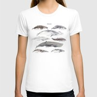 Whales Womens Fitted Tee White SMALL