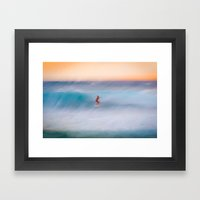 Sunset Rider Framed Art Print