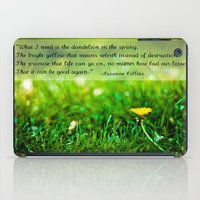 The Hunger Games Dandelion Quote  iPad Case