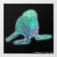 Albino Seal From The Cosmos Canvas Print