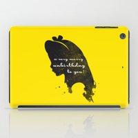 Unbirthday – Alice Silhouette Quote iPad Case