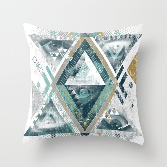 Eyesosceles Throw Pillow