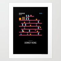 Minimal NES - Donkey Kong Art Print