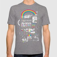 The Icecreamator Mens Fitted Tee Tri-Grey SMALL