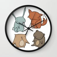 Woodland Animals Wall Clock