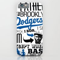 iPhone & iPod Case featuring JACKIE ROBINSON by kaseysmithcs