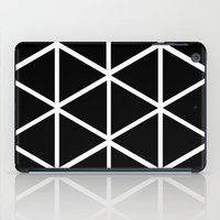 BLACK & WHITE TRIANGLES 2 iPad Case