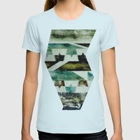 Morocco meets Navajo Womens Fitted Tee Light Blue SMALL