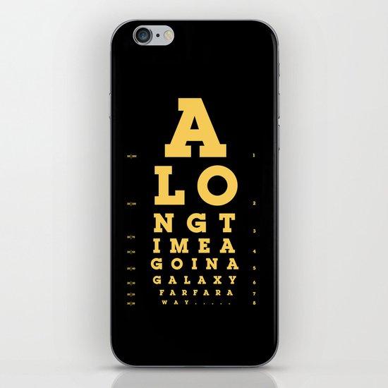 Jed Eye Chart iPhone & iPod Skin