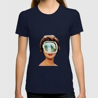 Vylsa Scikona Womens Fitted Tee Navy SMALL