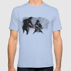 Samurai fight Mens Fitted Tee Athletic Blue SMALL