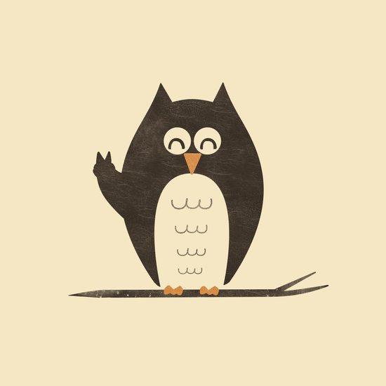 Peace Owlt Art Print