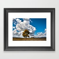 One Standing Alone Framed Art Print