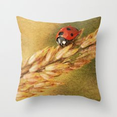 Lady on a Grass Throw Pillow