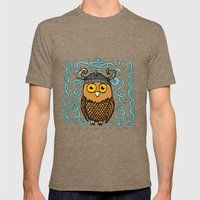 Brave Viking Owl Mens Fitted Tee Tri-Coffee SMALL