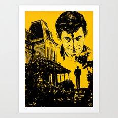 Norman Bates Psycho Art Print