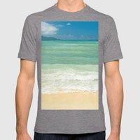 Kite Beach Maui Hawaii Mens Fitted Tee Tri-Grey SMALL