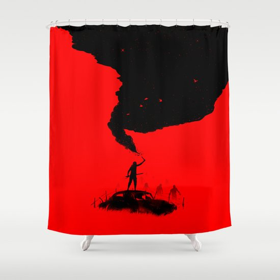 SOS Shower Curtain
