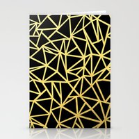 Abstract Outline Thick G… Stationery Cards