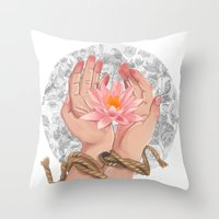 Her Life Unbound Throw Pillow