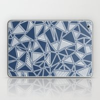 Abstract Outline Lines Navy  Laptop & iPad Skin