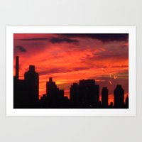 City Sunset Art Print