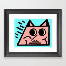 Pointy Framed Art Print