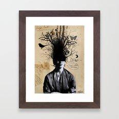 Frida's last dream Framed Art Print