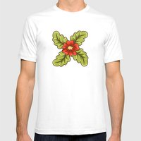 Guild of flowers and leaves! Mens Fitted Tee White SMALL