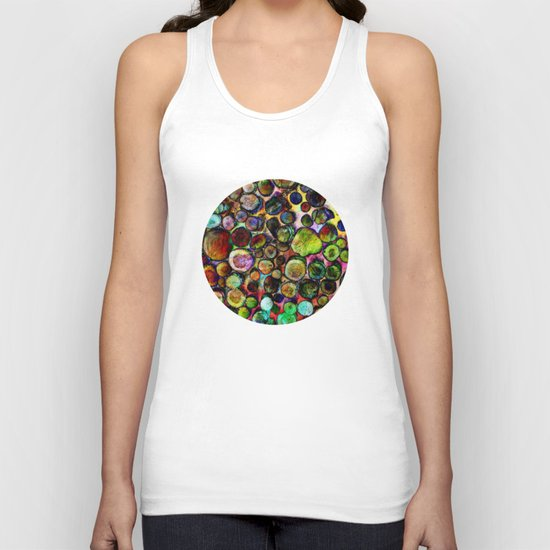 Colored Wood Pile 2 Unisex Tank Top