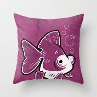 Moor Goldfish Throw Pillow