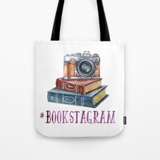 Watercolor Bookstagram Tote Bag