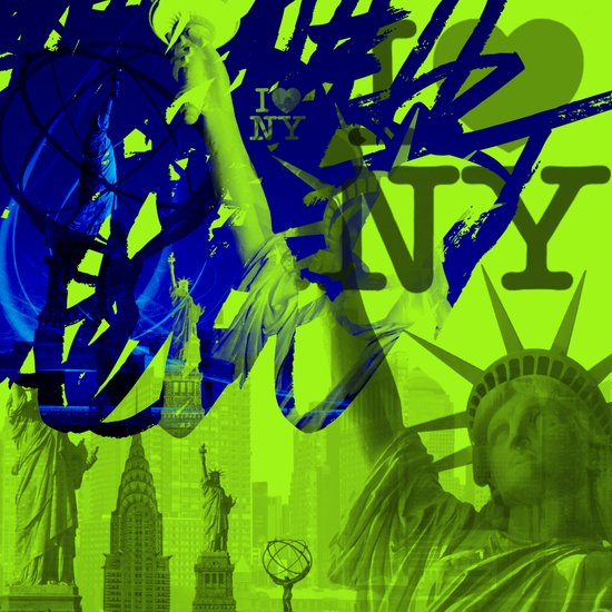New York au vert. Art Print