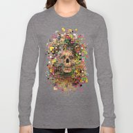Long Sleeve T-shirt featuring White Noise by FalcaoLucas