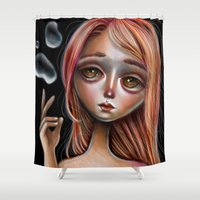 Water Master Pop Surreal Illustration Shower Curtain