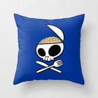 Zombie nation meal time Throw Pillow