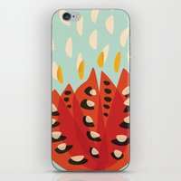 Red Abstract Tulip iPhone & iPod Skin