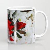 Rudolph Red Flowers Mug