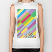 Stairs To Office  [COLOR… Biker Tank