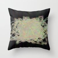 Electric Yarn Ball Throw Pillow