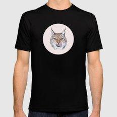 Lynx Lynx portrait SMALL Black Mens Fitted Tee