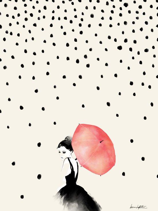 Polka Rain Art Print