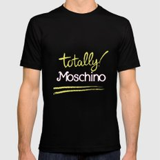 Totally Moschino Black Mens Fitted Tee Black SMALL