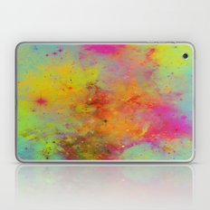Rainbow Galaxy - Abstract, rainbow coloured space painting Laptop & iPad Skin